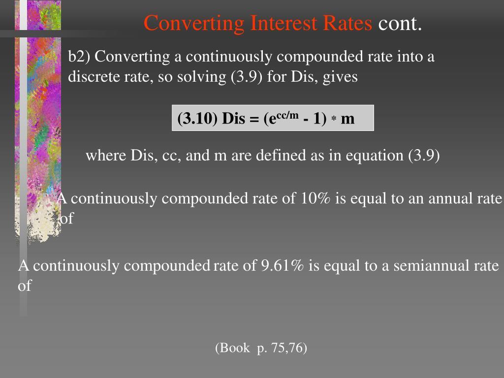 Converting Interest Rates