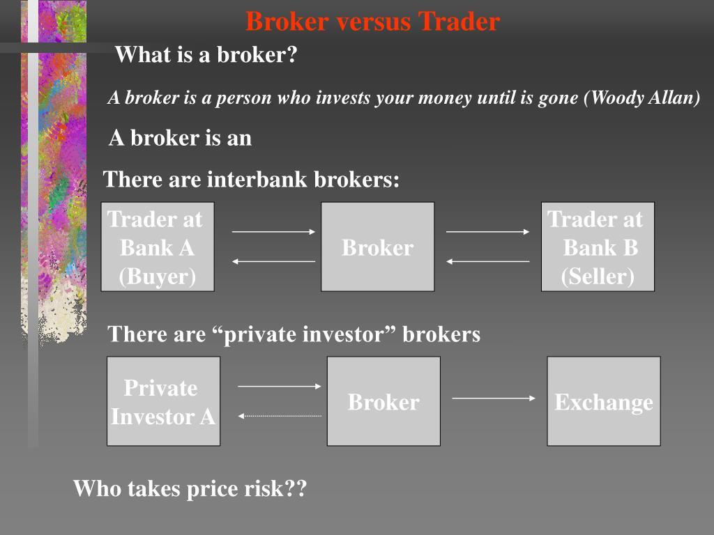 Broker versus Trader