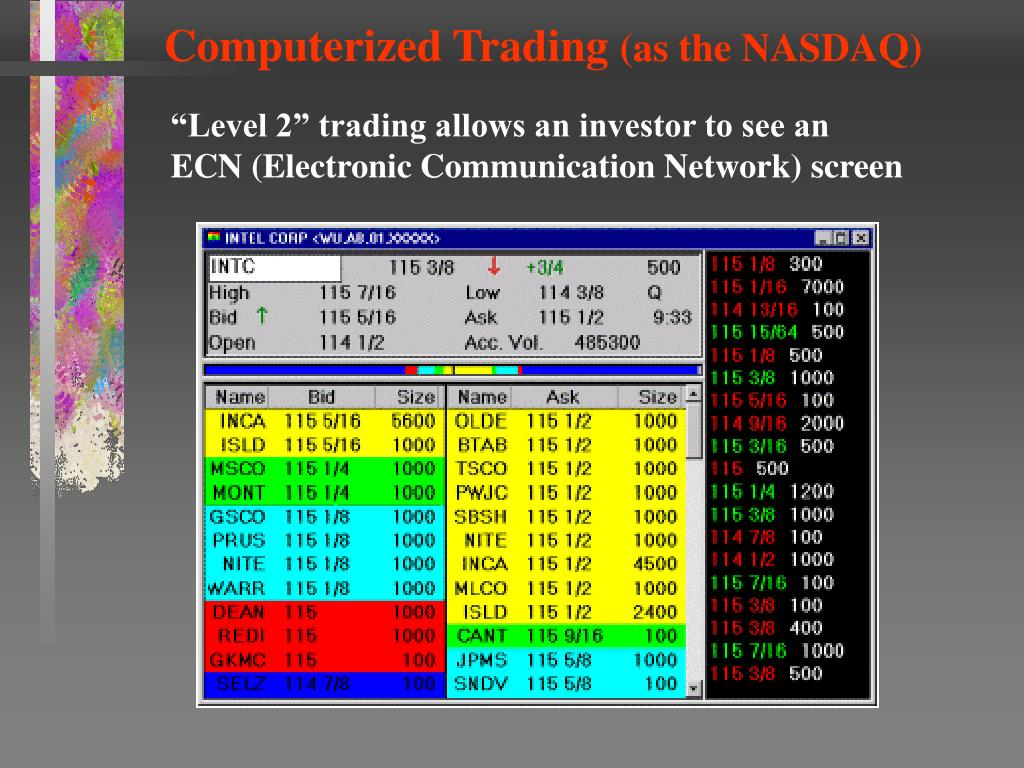 Computerized Trading