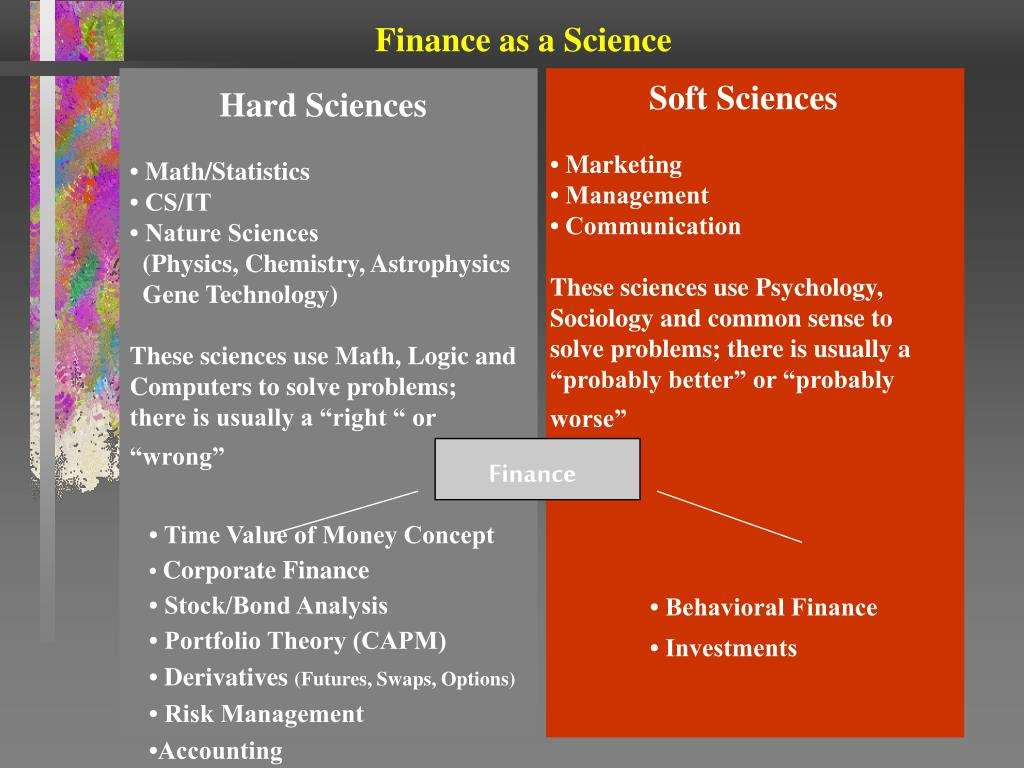 Finance as a Science