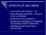 effects of iac risks