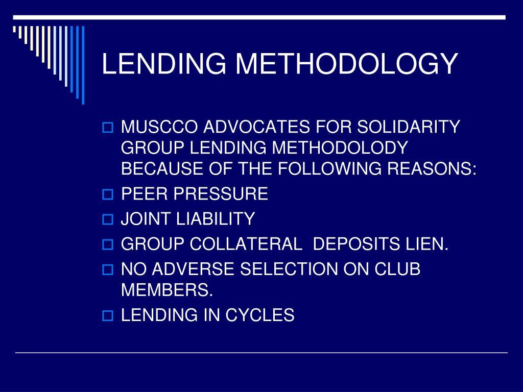 LENDING METHODOLOGY