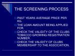 the screening process11