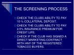 the screening process12