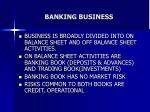 banking business