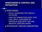 monitoring control and mitigation