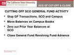 sco gf cut off close