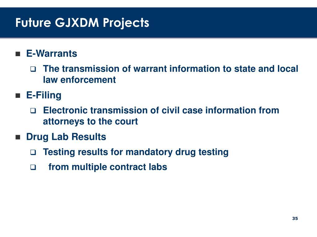 Future GJXDM Projects