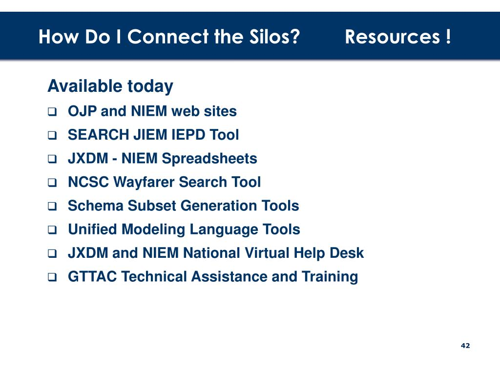 How Do I Connect the Silos?        Resources !