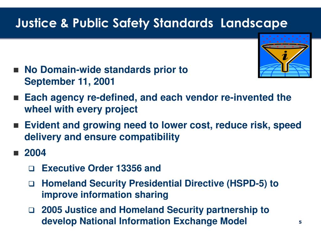 Justice & Public Safety Standards  Landscape