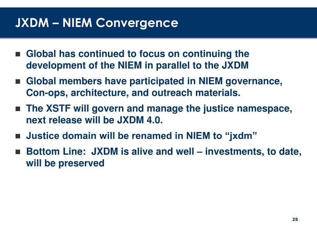 JXDM – NIEM Convergence