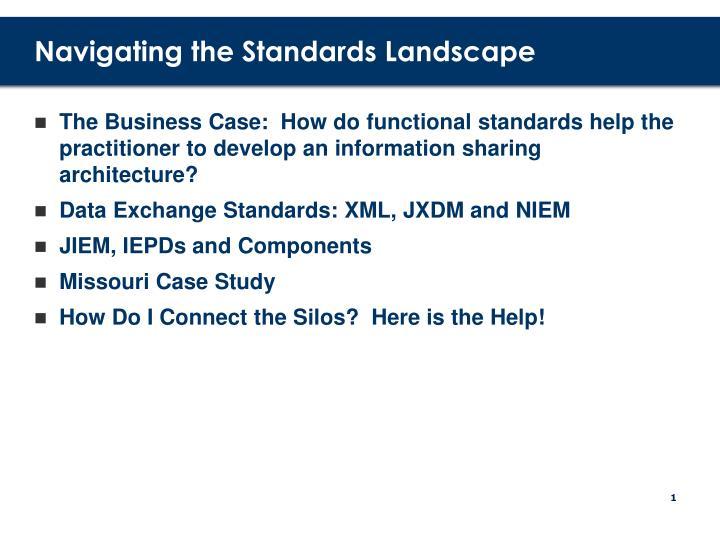 Navigating the standards landscape2