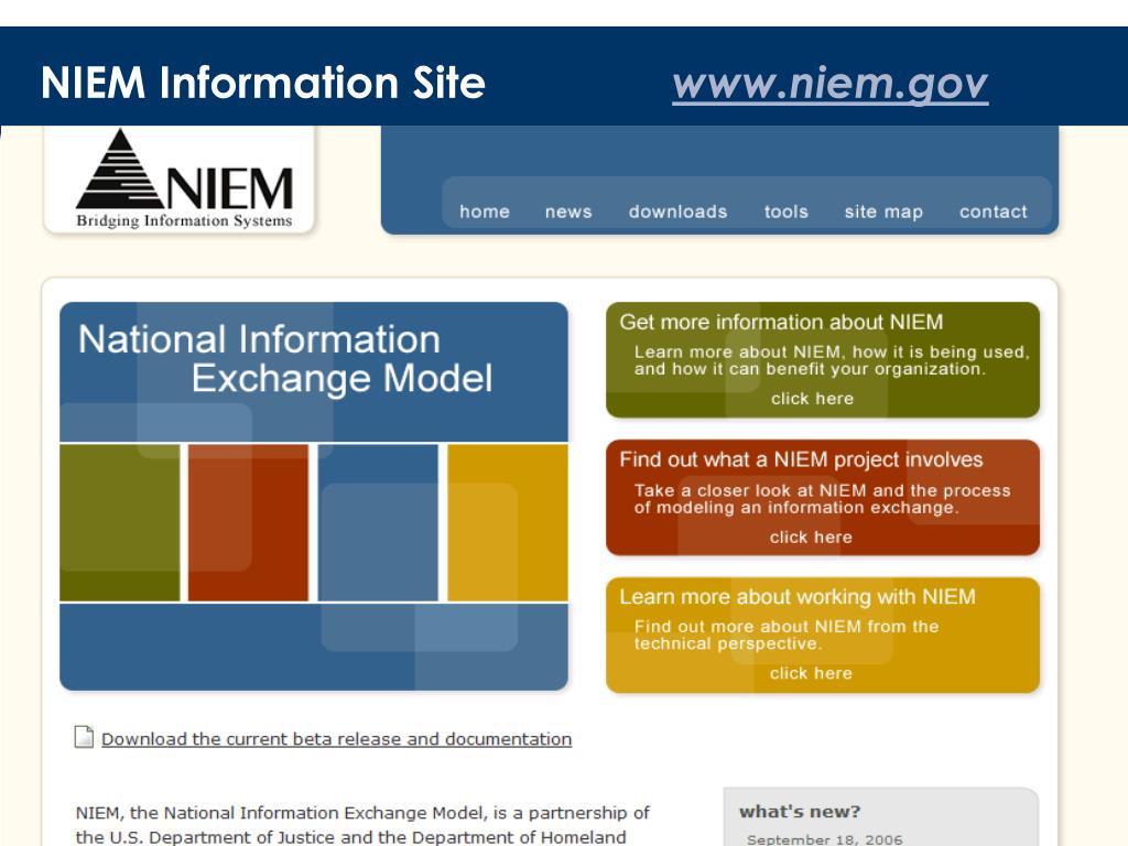 NIEM Information Site
