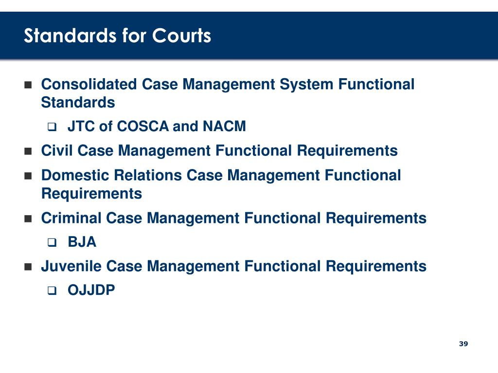 Standards for Courts