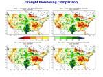 drought monitoring comparison