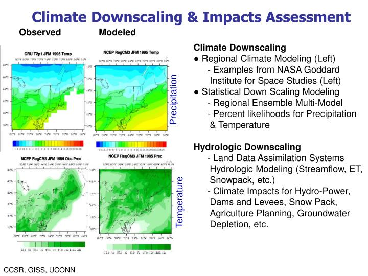 Climate Downscaling & Impacts Assessment