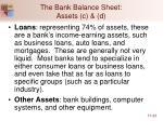 the bank balance sheet assets c d