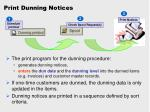 print dunning notices