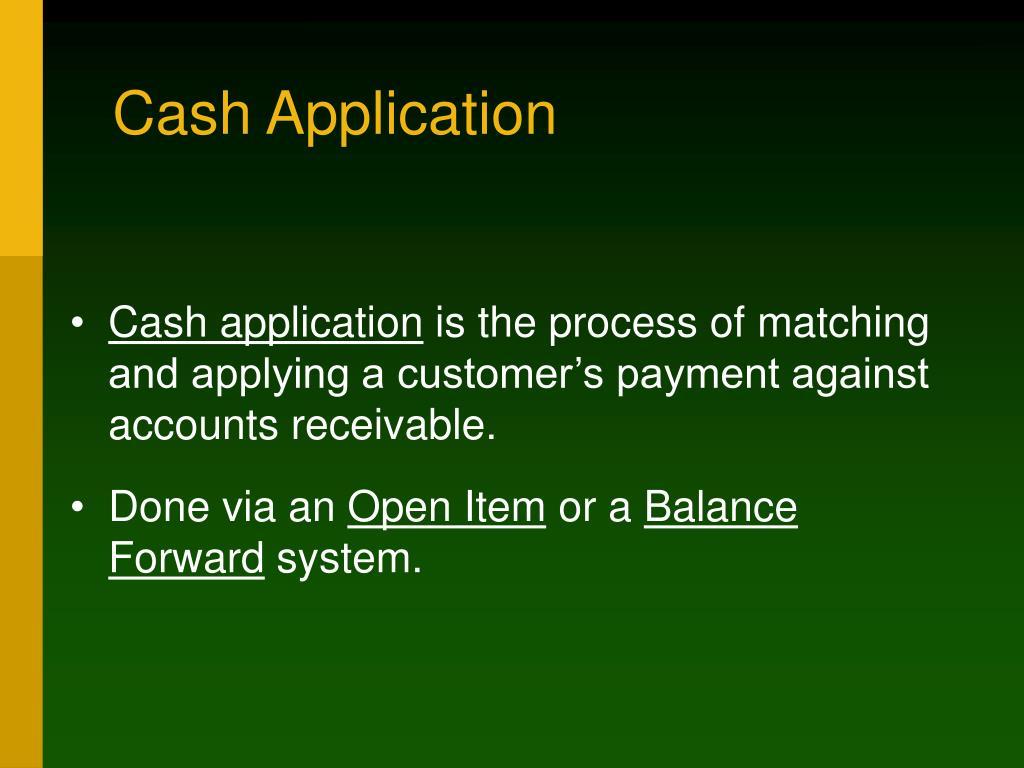 Cash Application