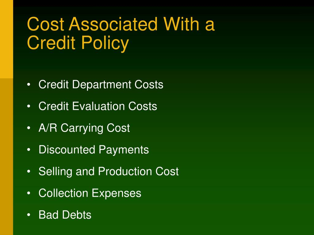 Cost Associated With a