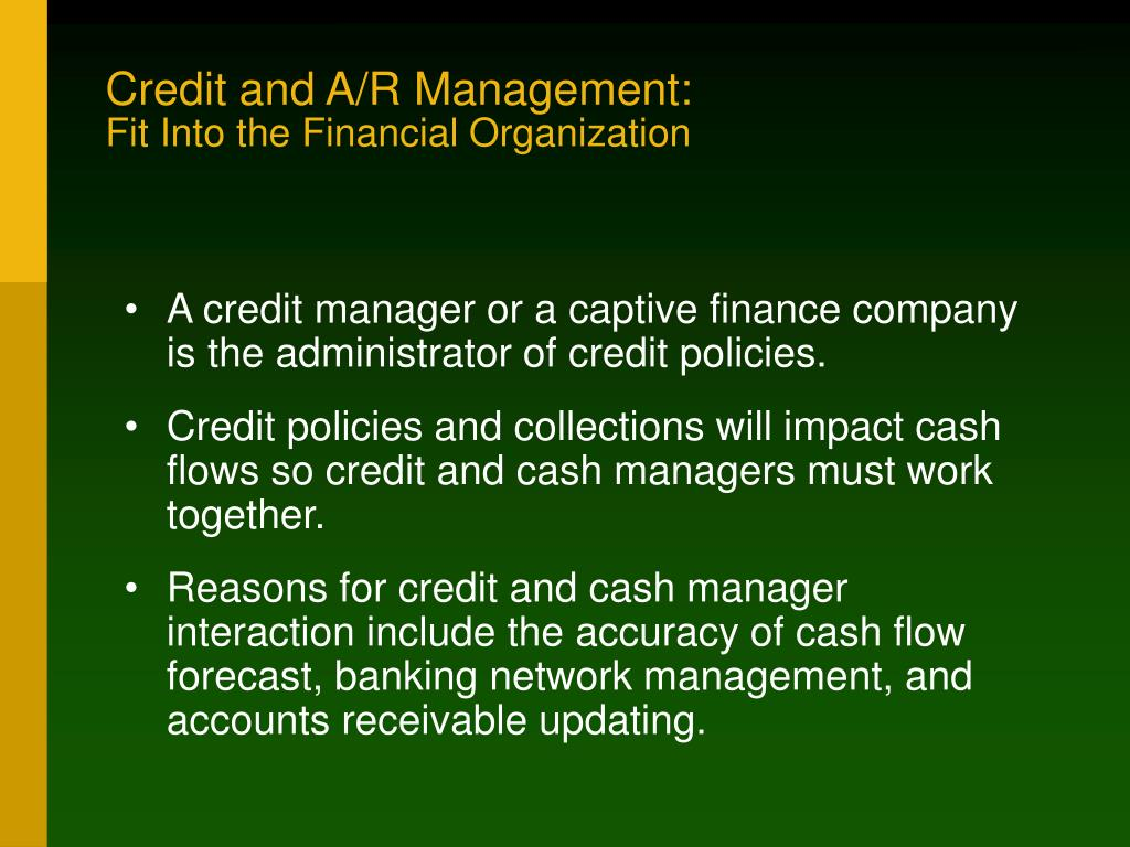 Credit and A/R Management:
