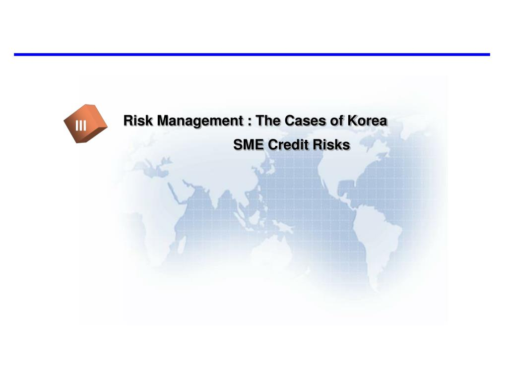 Risk Management : The Cases of Korea