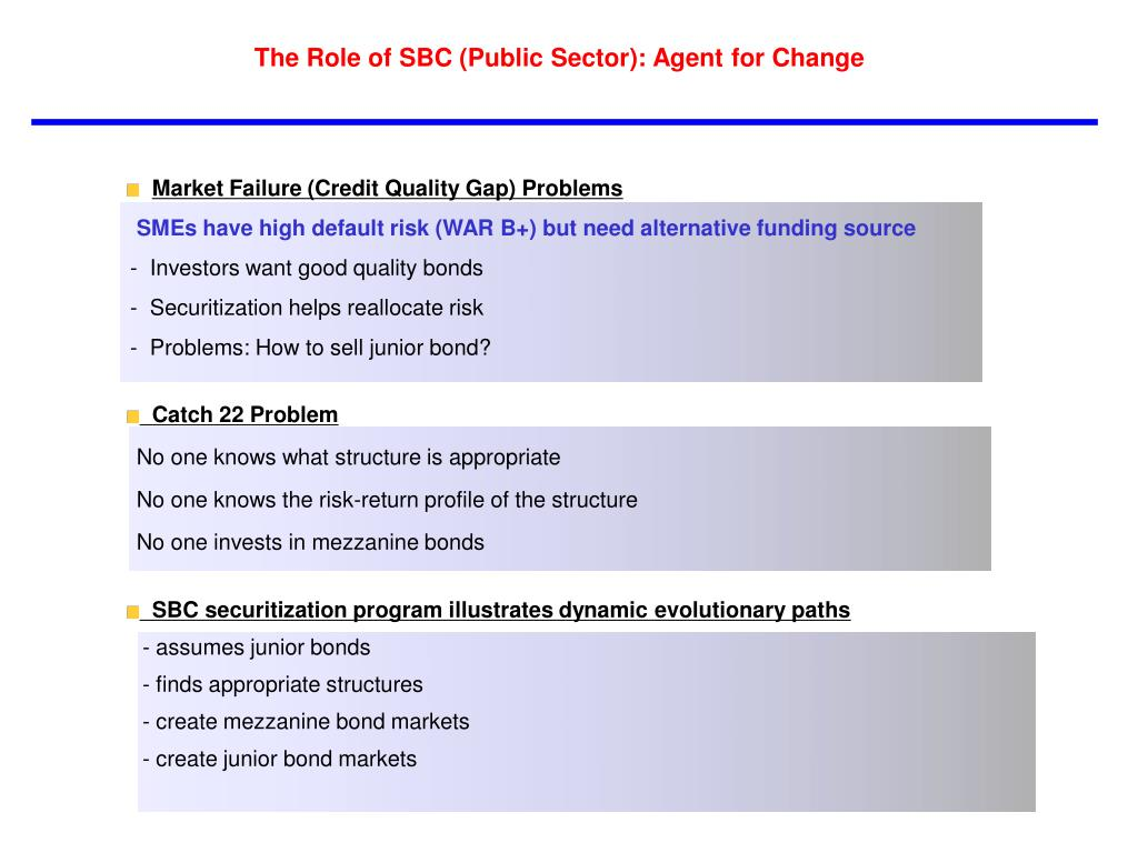 The Role of SBC (Public Sector): Agent for Change