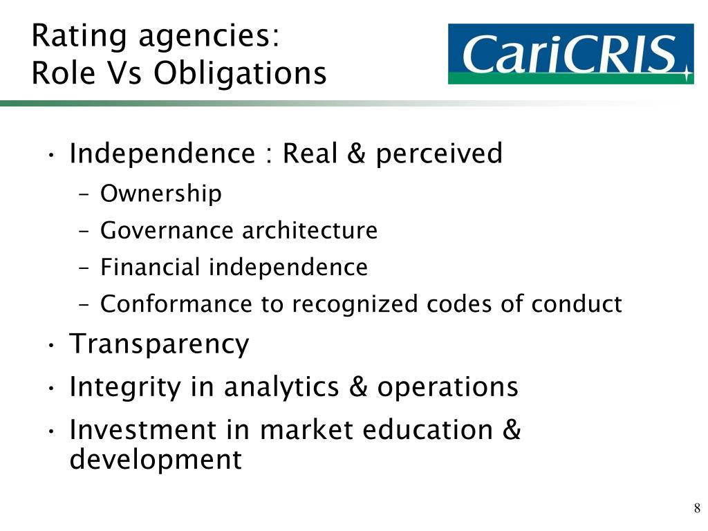 Rating agencies: