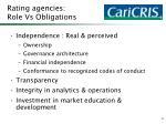 rating agencies role vs obligations