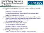 role of rating agencies in debt market development at the core