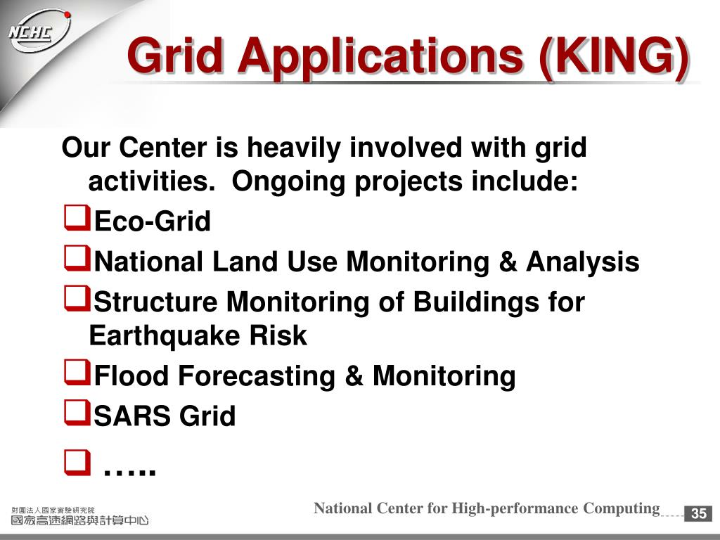 Grid Applications (KING)