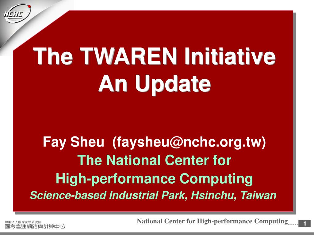 the twaren initiative an update l.