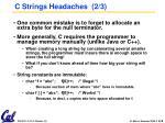 c strings headaches 2 3