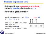 pointers to pointers 4 4