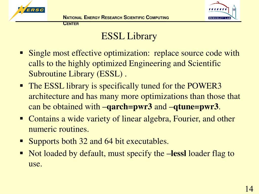 ESSL Library