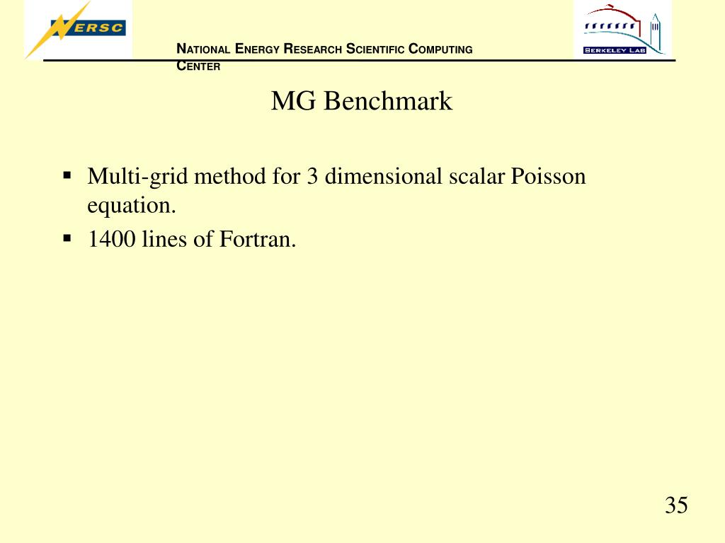 MG Benchmark
