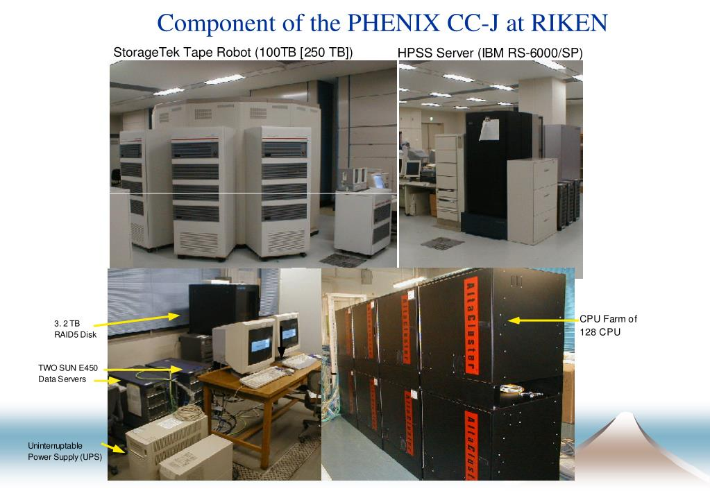 Component of the PHENIX CC-J at RIKEN