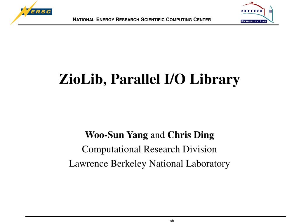 ZioLib, Parallel I/O Library
