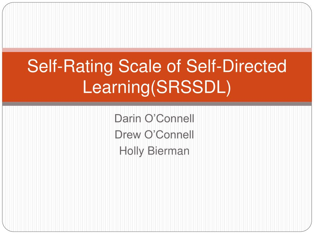 Self-Rating Scale of Self-Directed Learning(SRSSDL)