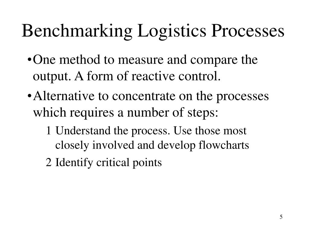 Benchmarking Logistics Processes