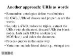 another approach uris as words