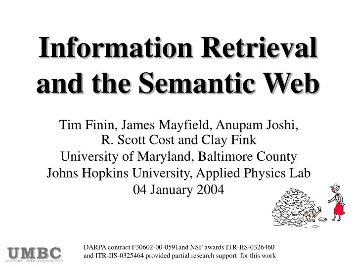 information retrieval and the semantic web n.