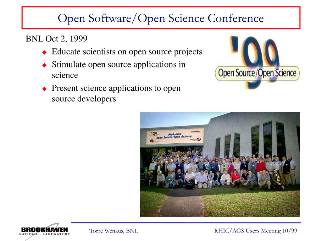 Open Software/Open Science Conference