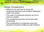 grid enabled bioportal@ascc