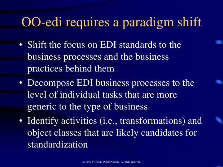 OO-edi requires a paradigm shift
