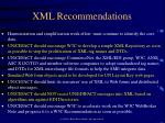 xml recommendations