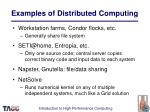 examples of distributed computing