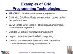 examples of grid programming technologies