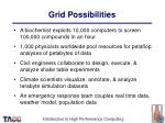 grid possibilities