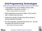 grid programming technologies